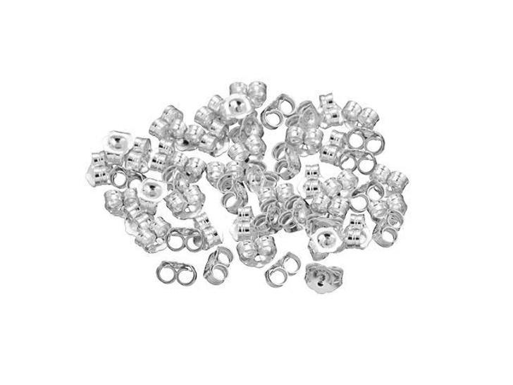 Sterling Silver Earring Back - Heavy Bulk Pack (50 Pcs)