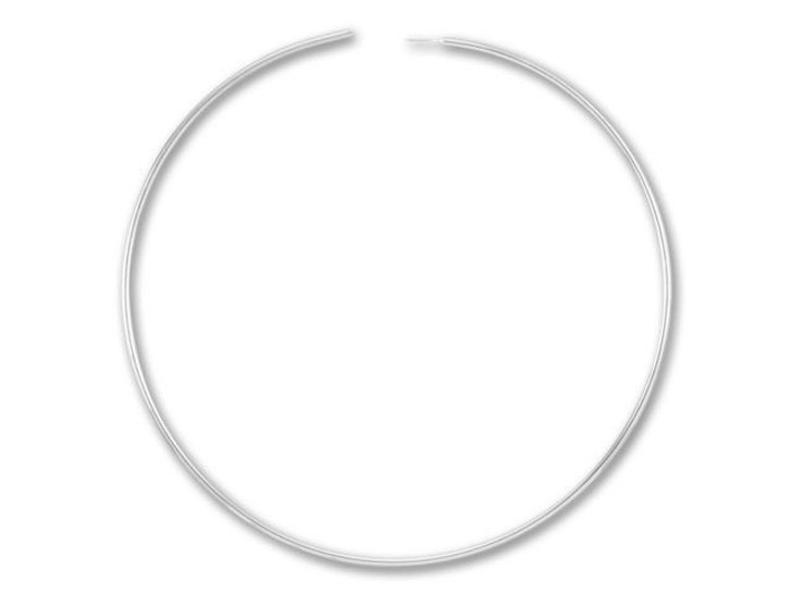 Sterling Silver Endless Beading Hoop 1-1/2 Inch (Pair)