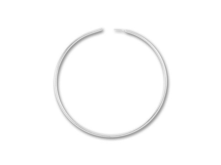 Sterling Silver Endless Beading Hoop 1-Inch (Pair)