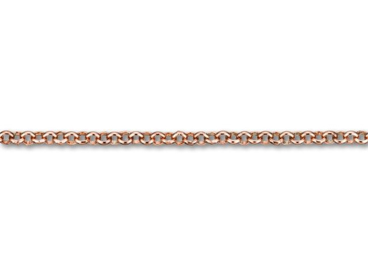 2.5mm Rose Gold-Plated Brass Rolo Chain by the Foot