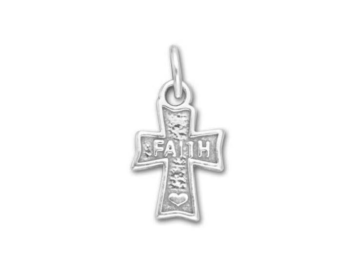 Sterling Silver Faith Cross Charm