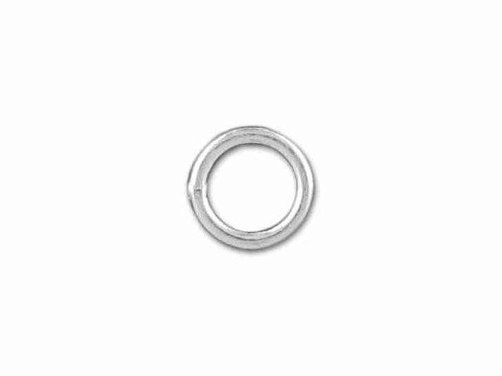 Sterling Silver Fine Closed Jump Ring (0.65x4mm)