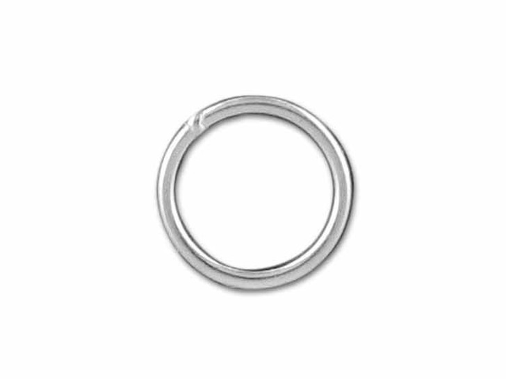 Sterling Silver Fine Closed Jump Ring (0.65x6mm)