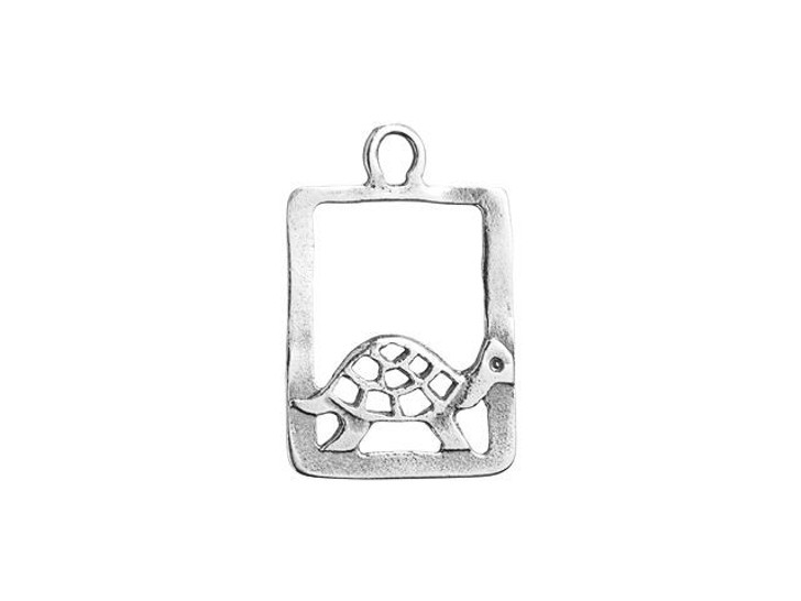 Sterling Silver Flat Turtle Charm