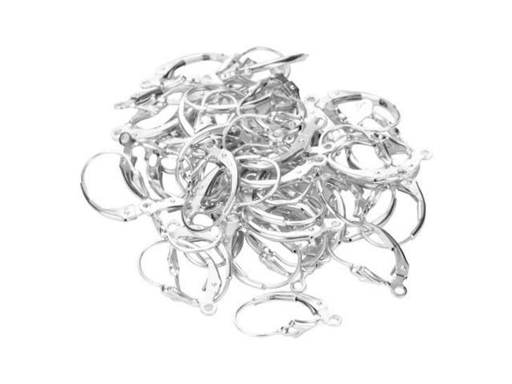 Sterling Silver Fleur De Lis Lever-Back Earring Bulk Pack (20 pairs)