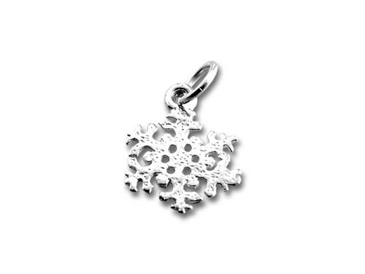 Sterling Silver Fluffy Snowflake Charm