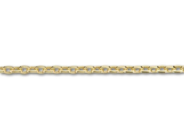 2.5x3.5mm Gold-Plated Square Wire Cable Chain By the Foot