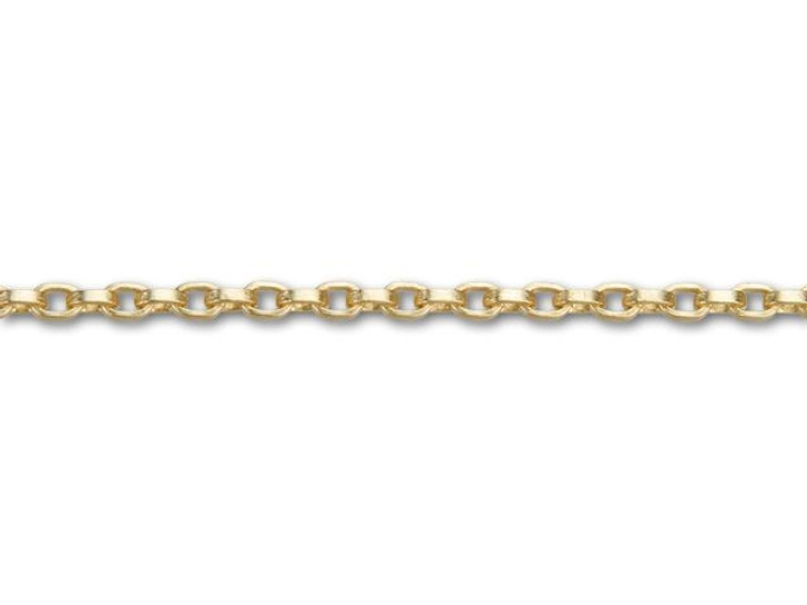 2.5x3.5mm Satin Hamilton Gold-Plated Square Wire Cable Chain By the Foot