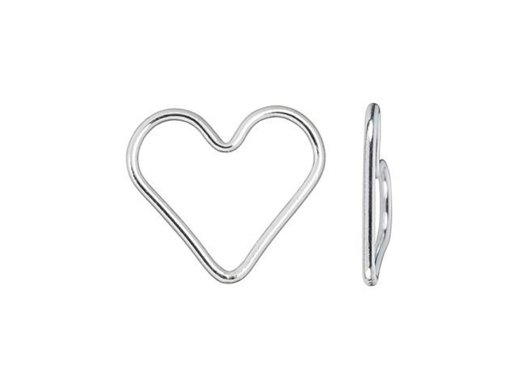 Sterling Silver Heart Closed Jump Ring