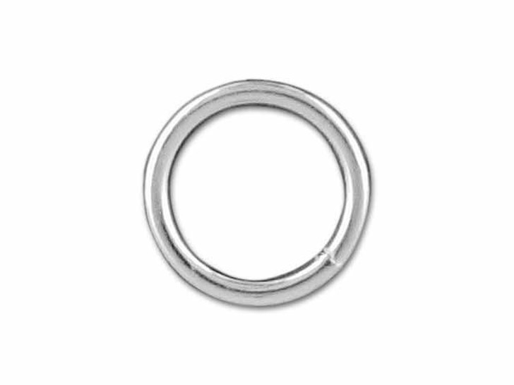 Sterling Silver Heavy Closed Jump Ring (0.9x7mm)