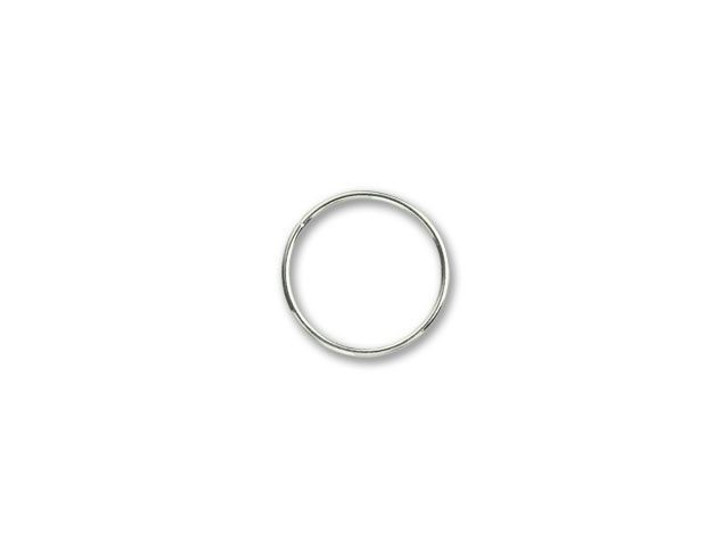 Sterling Silver Heavy Closed Jump Ring (1x17mm)