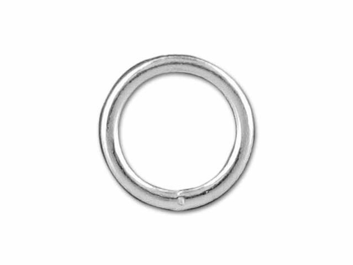 Sterling Silver Heavy Closed Jump Ring (1x7mm)