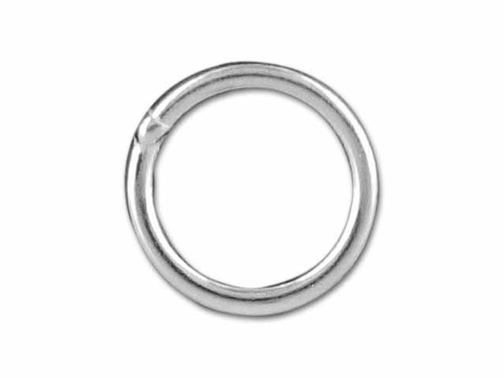 Sterling Silver Heavy Closed Jump Ring (1x8mm)