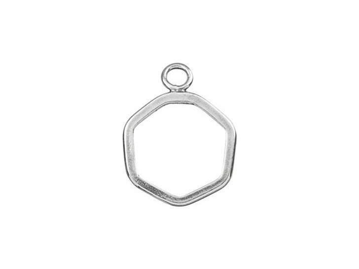 Sterling Silver Hexagon Charm