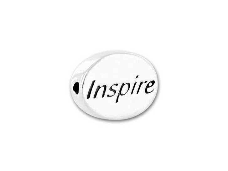 Sterling Silver Inspire Message Bead