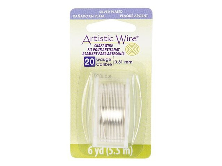 20-Gauge Silver Tarnish-Resistant Artistic Wire, 6-Yard Spool