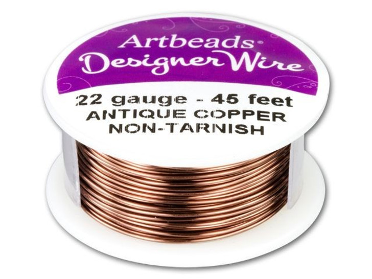 Artbeads Designer Wire - Antique Copper Non-Tarnish 22 Gauge (45-foot spool)
