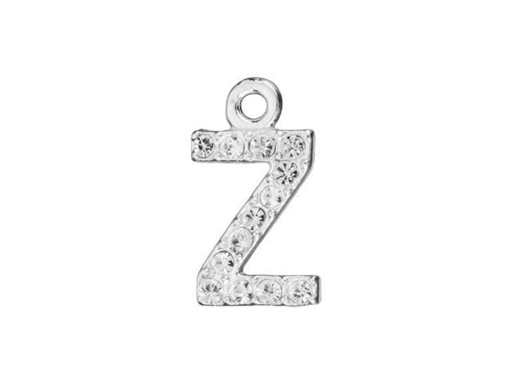 Sterling Silver Letter Z Pendant with Ring (7mm)