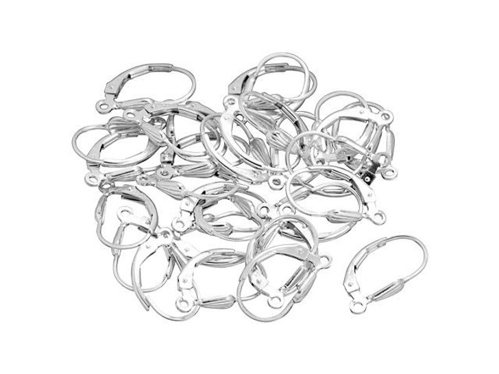 Sterling Silver Leverback Shell Earring, Bulk Pack (15 Pairs)