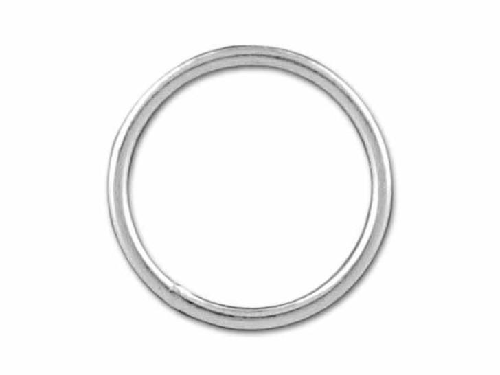 Sterling Silver Medium Closed Jump Ring (0.76x9mm)