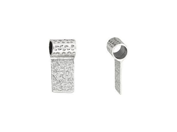 Sterling Silver Medium Hammered Glue Bail