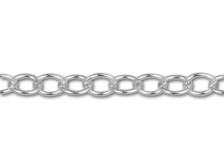 Sterling Silver Open Cable Chain by the Foot