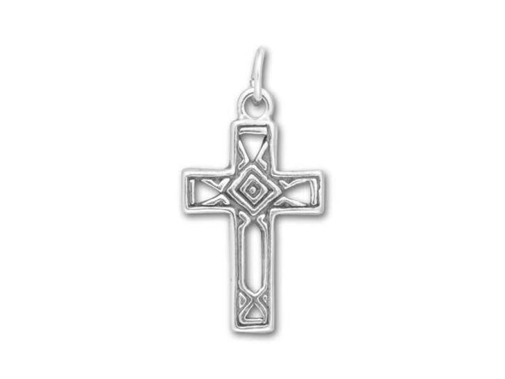 Sterling Silver Open Design Cross Charm