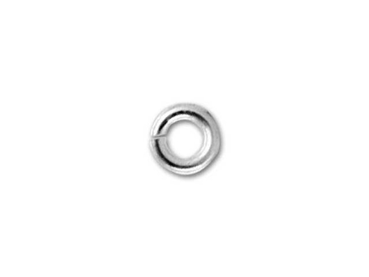 Sterling Silver Open Jump Ring - 0.020 x .090 inches (0.5 x 2.3mm)