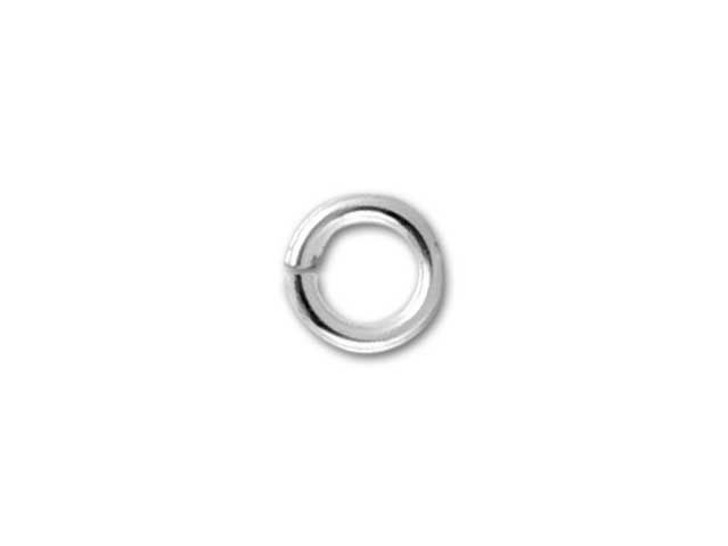 Sterling Silver Open Jump Ring - 0.020 x .120 inches (0.5 x 3.0mm)