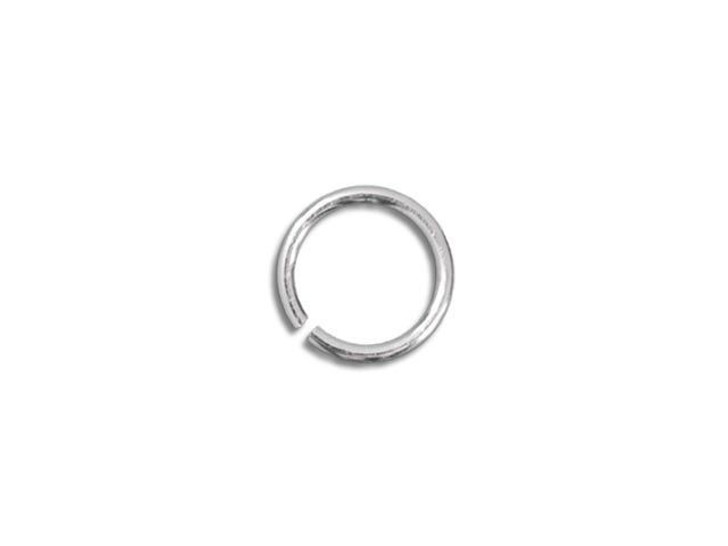 Sterling Silver Open Jump Ring - 0.025 x .130 inches (0.65 x 3.30mm)