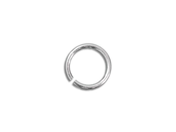 Sterling Silver Open Jump Ring - 0.025 x .140 inches (0.65 x 3.55mm)