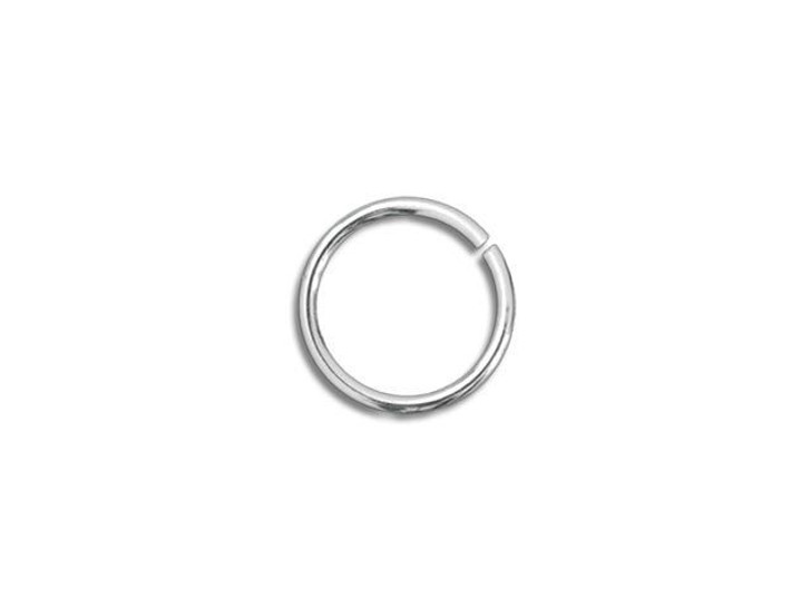 Sterling Silver Open Jump Ring - 0.030 x .140 inches (0.75 x 3.55mm)