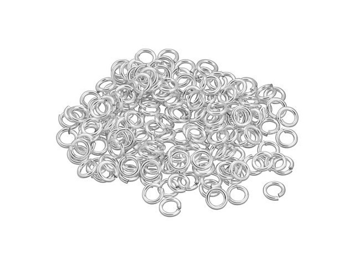 Sterling Silver Open Jump Ring - 0.030 x .160-Inches (0.75x4.05mm) Bulk Pack (150 Pcs)