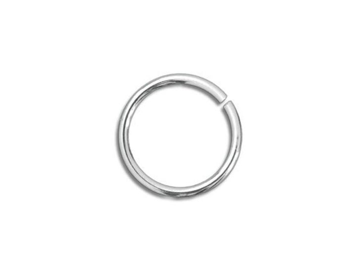 Sterling Silver Open Jump Ring - 0.030 x .180 inches (0.75 x 4.60mm)