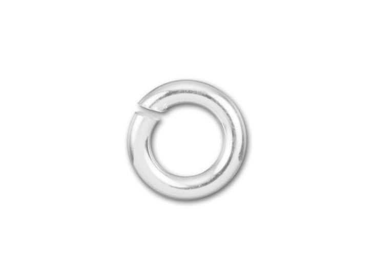 Sterling Silver Open Jump Ring - 0.035 x .170 inches (0.90 x 4.30mm)