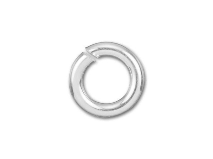 Sterling Silver Open Jump Ring - 0.035 x .180 inches (0.90 x 4.60mm)