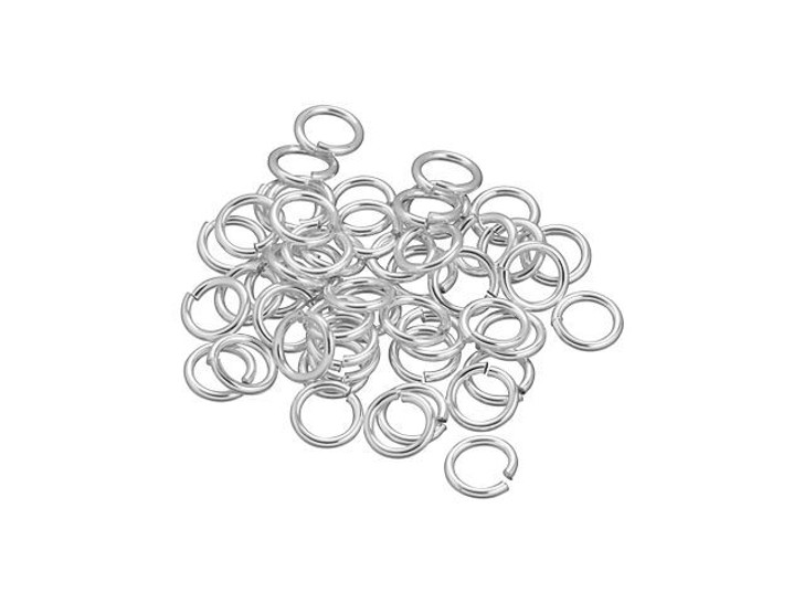 Sterling Silver Open Jump Ring - 0.035 x .235-Inches (0.90x5.95mm) Bulk Pack (50 Pcs)