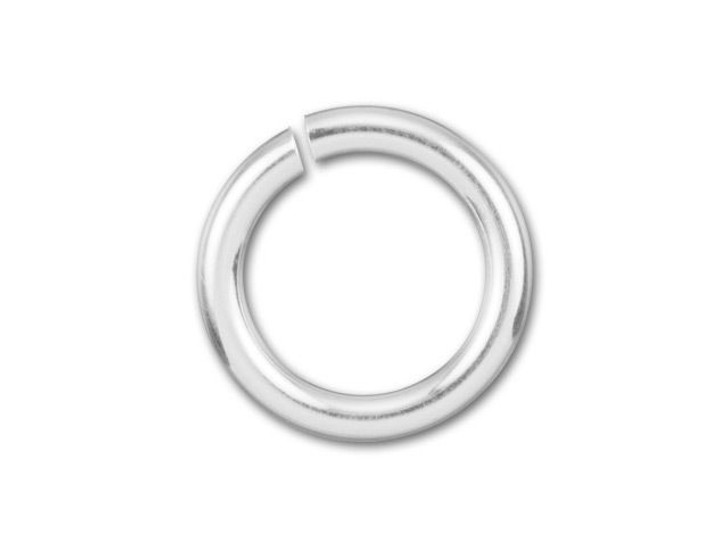 Sterling Silver Open Jump Ring - 0.035 x .240 inches (0.90 x 6.10mm)