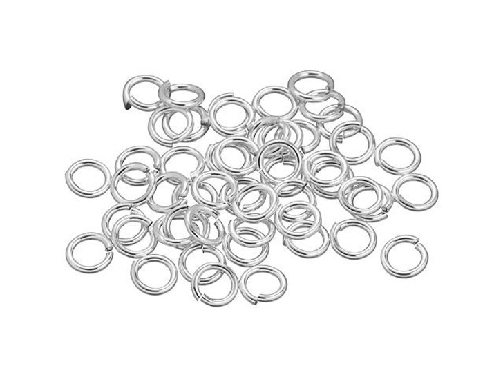Sterling Silver Open Jump Ring - 0.040x .240-Inches (1.00x6.10mm) Bulk Pack (50 Pcs)