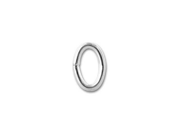 Sterling Silver Oval Jump Ring 3.0x4.6mm, 21 gauge