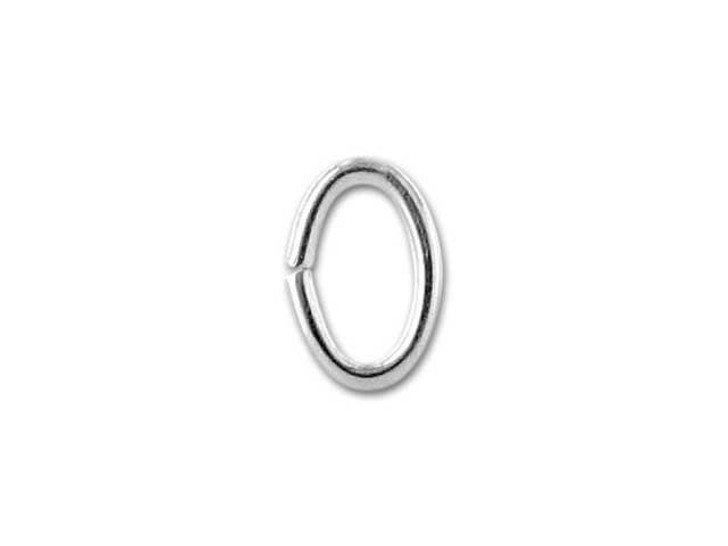Sterling Silver Oval Jump Ring 3.5x5.3mm, 21 gauge