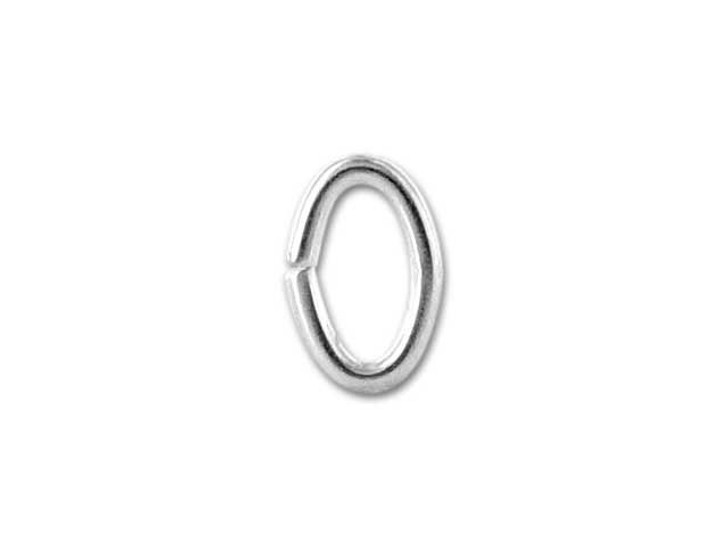 Sterling Silver Oval Jump Ring 3.6x5.5mm, 20 gauge