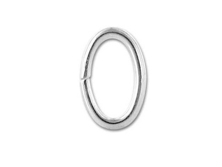 Sterling Silver Oval Jump Ring 4.9x7.6mm, 19 gauge