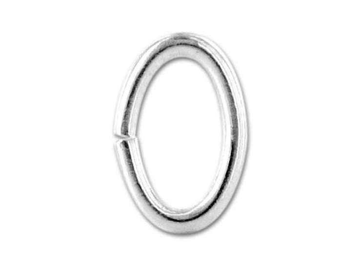 Sterling Silver Oval Jump Ring 6.4x9.6mm, 16 gauge