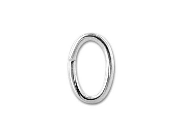 Sterling Silver Oval Open Jump Ring 4.1x6.4mm, 20 gauge