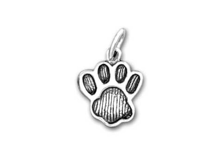 Sterling Silver Paw Print Charm (Large)