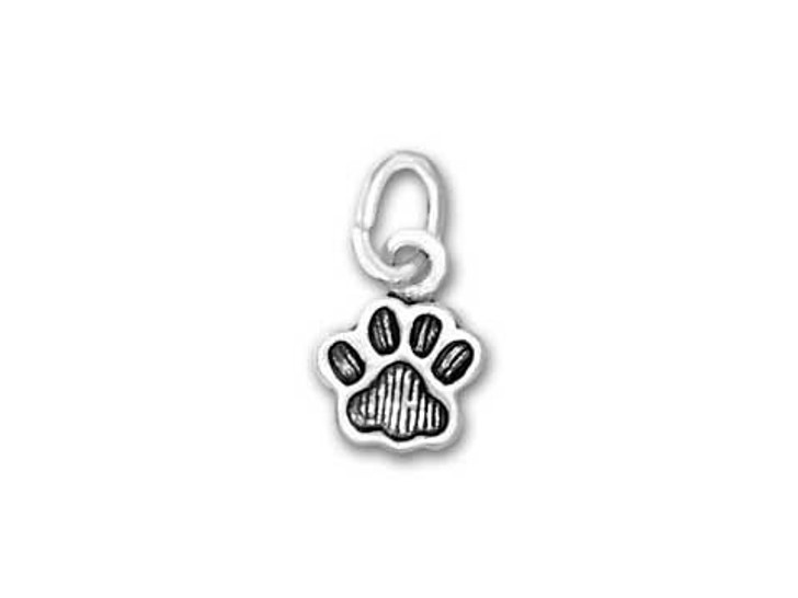 Sterling Silver Paw Print Charm (Small)
