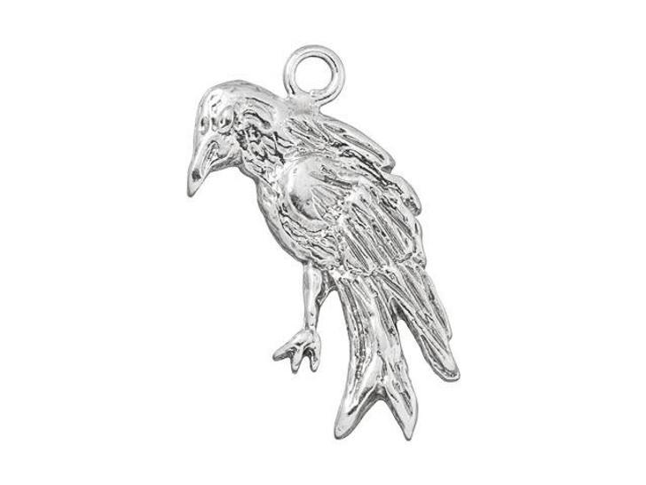 Sterling Silver Raven Charm
