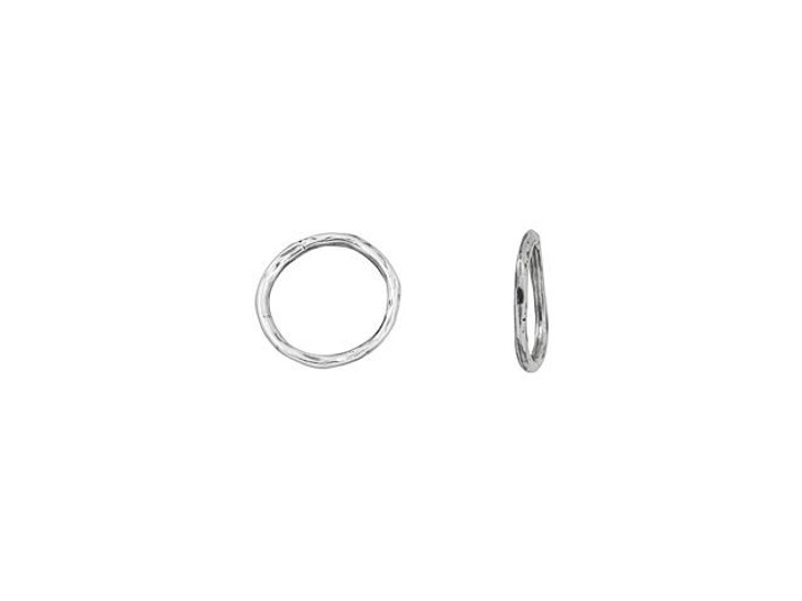 Sterling Silver Rough Design Small Round Link