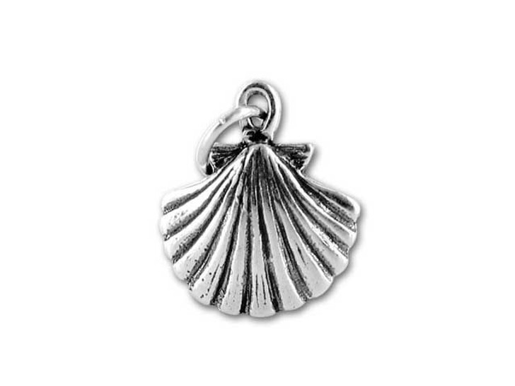 Sterling Silver Seashell Charm